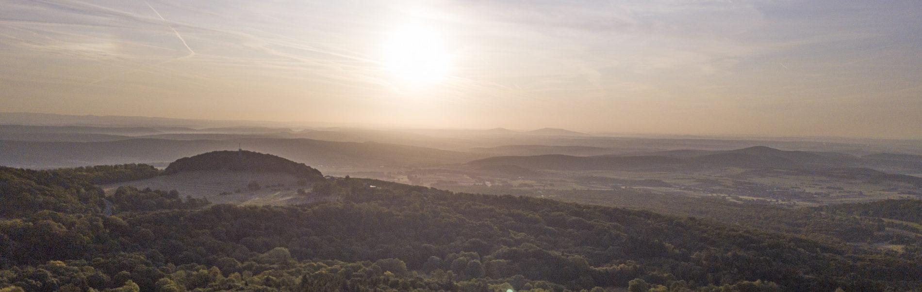 Sonnenaufgang über der Streutalallianz (Foto: Leska Hörner - Leskas Wunderwelt)