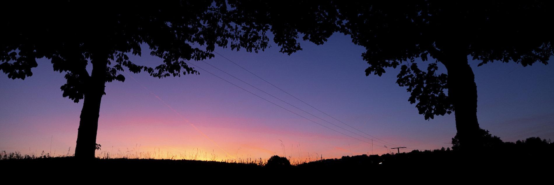Winterlicher Sonnenuntergang in der Streutalallianz (Foto: Leska Hörner - Leskas Wunderwelt)