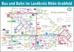ÖPNV-Verbindungen Rhön-Grabfeld (Quelle: Landkreis Rhön-Grabfeld)