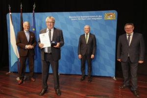 Verleihung der Kommunalen Verdienstmedaille am 24. September 2020 in Veitshöchheim Foto: Giulia Iannicelli/StMI