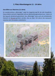 2. Platz 11 - 14 Jahre Malwettbewerb Streutalallianz