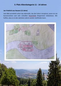 3. Platz 11 - 14 Jahre Malwettbewerb Streutalallianz