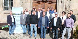Die Teilnehmer der ILE Zwischenevaluierung der Streutalallianz in Klosterlangheim (Foto: Georg Stock).